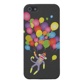 Mono del calcetín con los globos coloridos iPhone 5 cárcasas