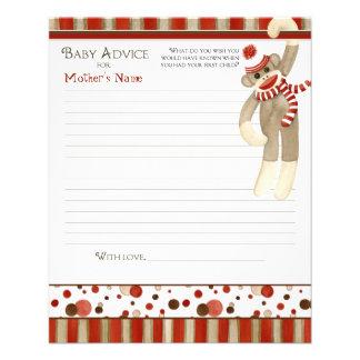Mono del calcetín, consejo de la fiesta de bienven flyer personalizado