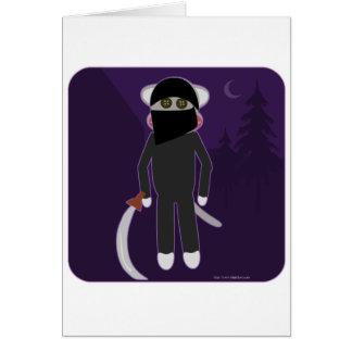 Mono del calcetín de Ninja Tarjeta De Felicitación