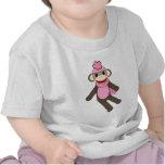 mono del calcetín del chica camiseta