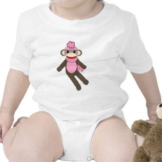 mono del calcetín del chica trajes de bebé