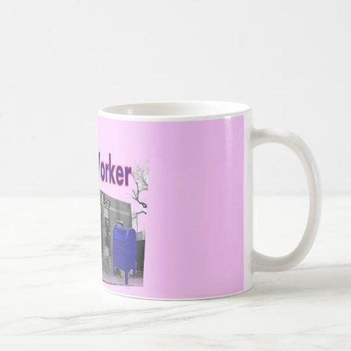 Mono del calcetín del empleado de correos tazas de café