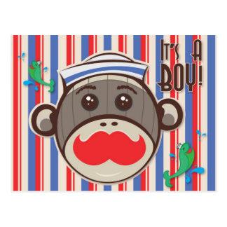 ¡Mono del calcetín del marinero su un muchacho! Po Postales