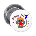 Mono del calcetín del MUCHACHO del cumpleaños de 1 Pin