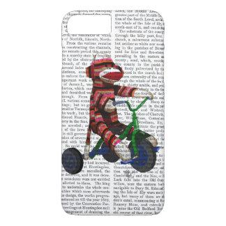 Mono del calcetín en el triciclo funda iPhone 7 plus