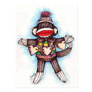 Mono del calcetín - estupideces postal