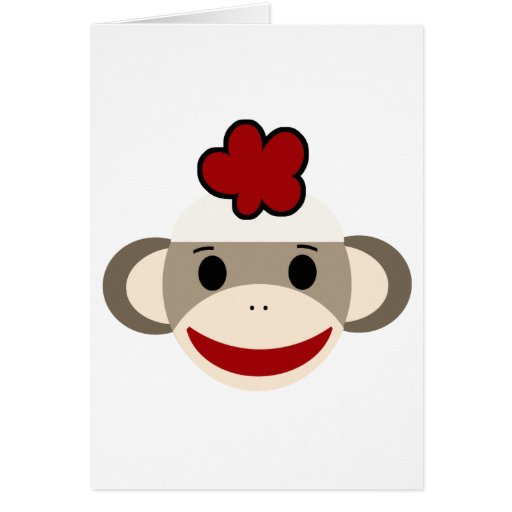 mono del calcetín felicitaciones