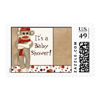 Mono del calcetín, franqueo de la fiesta de sellos postales