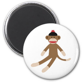 mono del calcetín imán redondo 5 cm