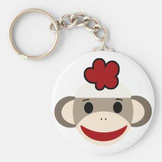 mono del calcetín llavero redondo tipo pin