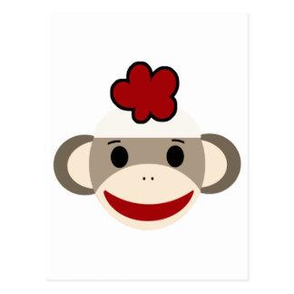 mono del calcetín postales