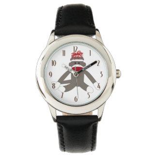 Mono del calcetín relojes de pulsera