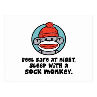 Mono del calcetín tarjetas postales