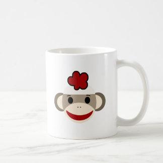 mono del calcetín taza básica blanca