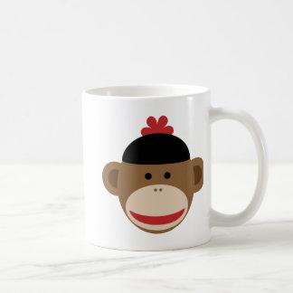 mono del calcetín tazas de café