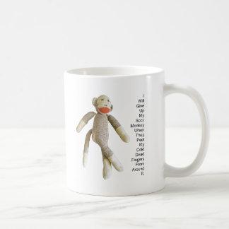 Mono del calcetín taza clásica