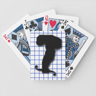 Mono del cálculo baraja de cartas