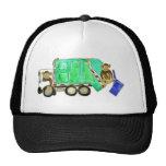 Mono del camión de basura gorras de camionero