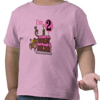 Mono del chica soy 2 camisetas del cumpleaños