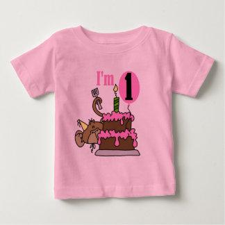Mono del chica soy camisetas de un cumpleaños playeras