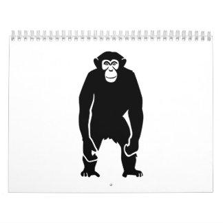 Mono del chimpancé calendario