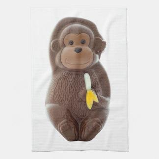Mono del chocolate toalla