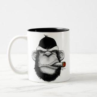 Mono del cigarro taza de dos tonos