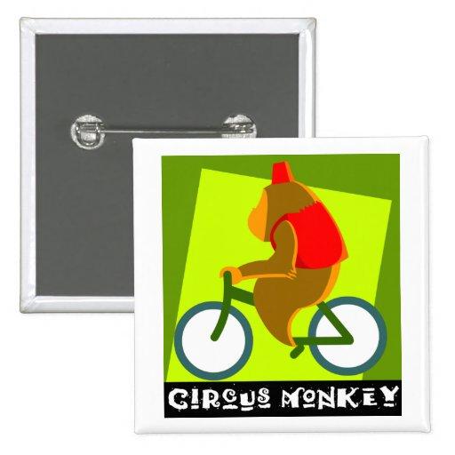 mono del circo pin cuadrado