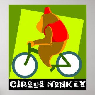 mono del circo póster