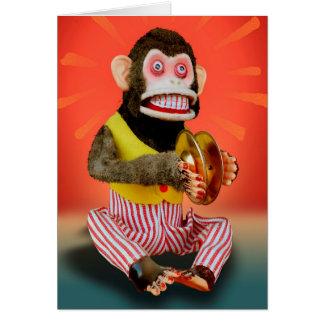 Mono del cumpleaños tarjeta de felicitación