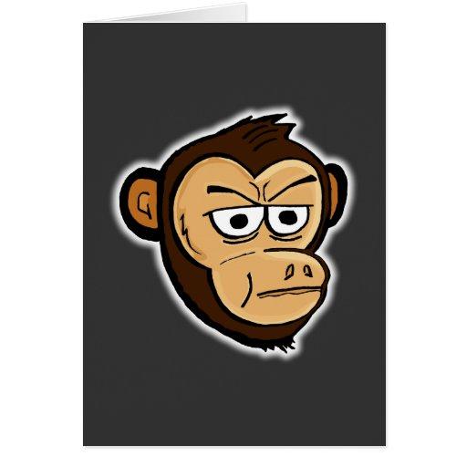 Mono del dibujo animado felicitaciones