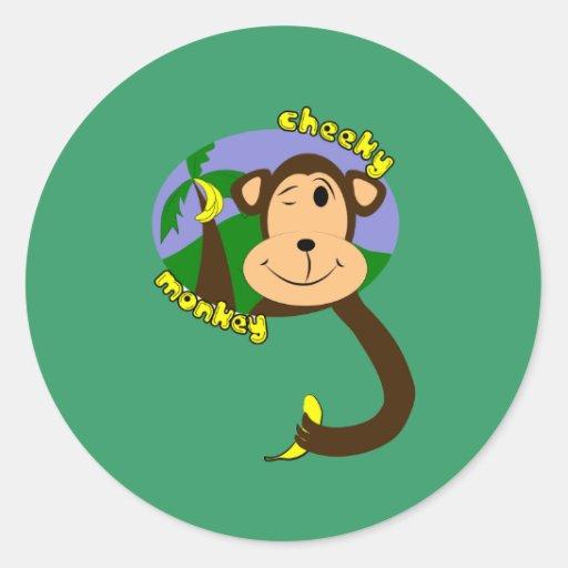 Mono del dibujo animado pegatinas