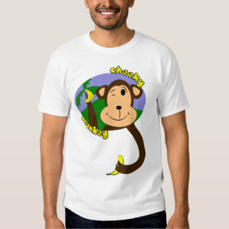 Mono del dibujo animado playera