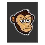 Mono del dibujo animado postal
