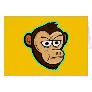 Mono del dibujo animado tarjeta de felicitación