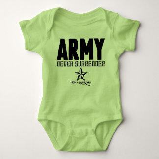 Mono del ejército del bebé playeras