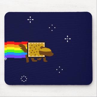 Mono del espacio del extremo del arco iris del tej alfombrillas de raton