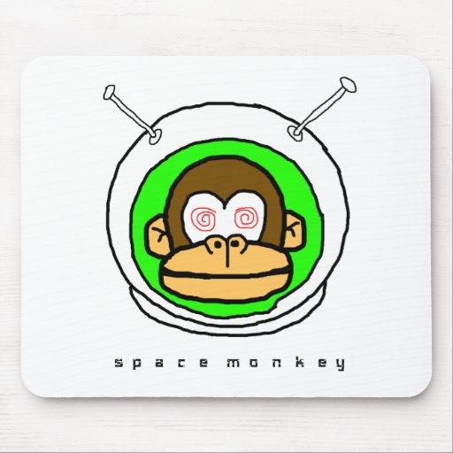 Mono del espacio en… tapete de ratones