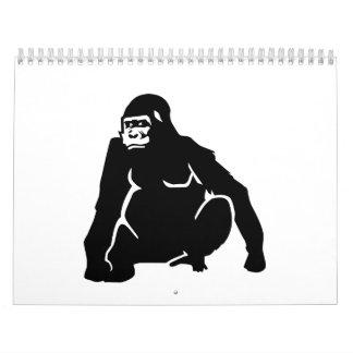 Mono del gorila calendarios de pared