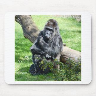 Mono del gorila alfombrillas de raton