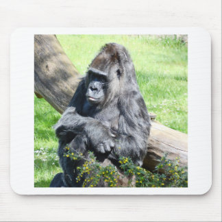 Mono del gorila tapete de raton