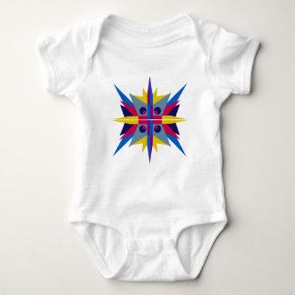Mono del jersey del bebé con la estrella del art