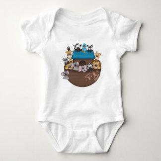 Mono del jersey del bebé de la arca de Noah