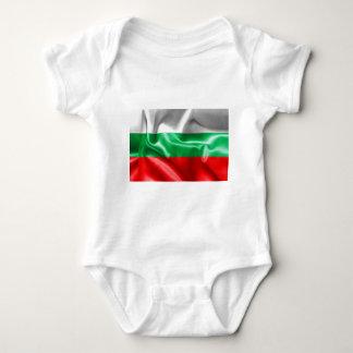 Mono del jersey del bebé de la bandera de Bulgaria