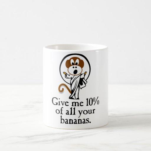 Mono del júbilo taza básica blanca