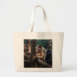Mono del Langur Bolsa Lienzo