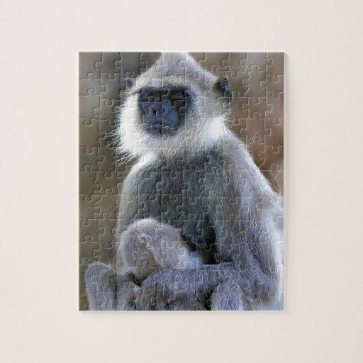 Mono del Langur Puzzle Con Fotos
