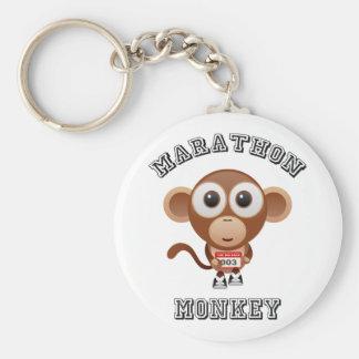 Mono del maratón llavero redondo tipo pin
