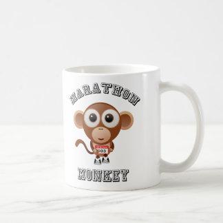 Mono del maratón taza básica blanca