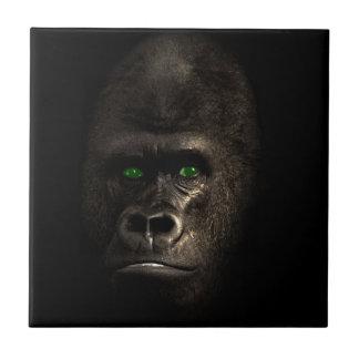 Mono del mono del gorila azulejo cuadrado pequeño